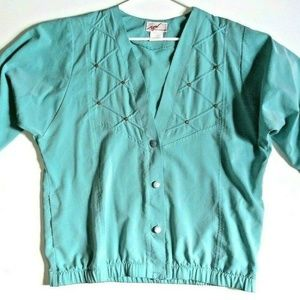 G.W. DIVISION of GRAFF Women's Green top blouse